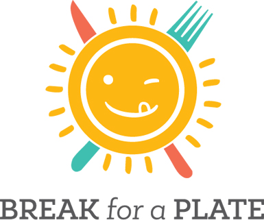 break for a plate logo design