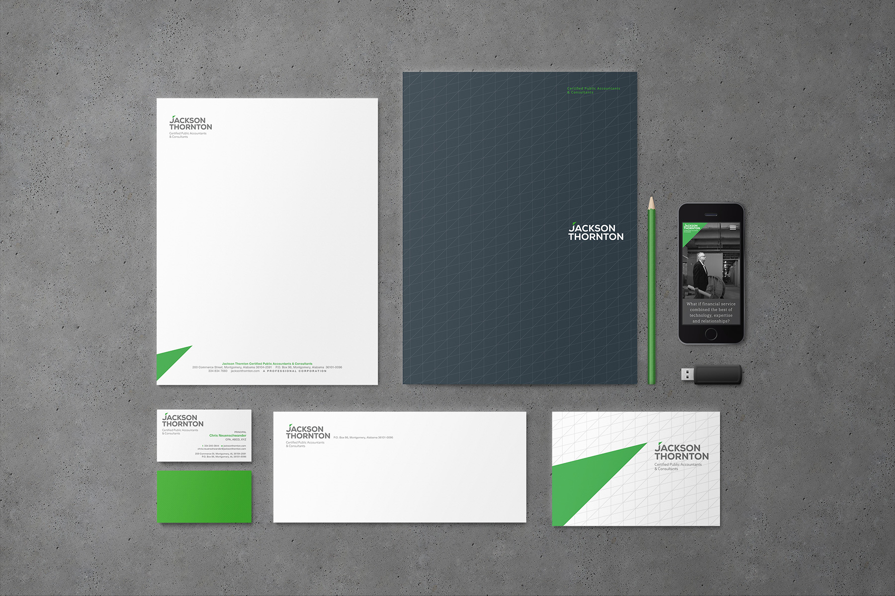 jackson thorton stationery set design